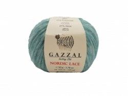 Пряжа Gazzal Nordic Lace Gazzal 48% акрил, 31% полиамид, 21% шерсть, длина 115м в мотке