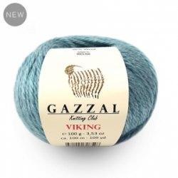 Пряжа Gazzal Viking Gazzal 30% шерсть, 70% акрил, длина в мотке 100 м.