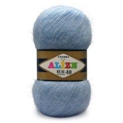 Пряжа Alize Angora Real 40 Alize 40% шерсть, 60% акрил, длина 480м в мотке
