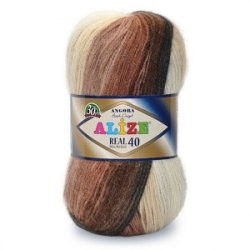 Пряжа Alize Angora Real 40 Batik Alize 40% шерсть, 60% акрил, длина в мотке 480 м.