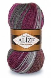 Пряжа Alize Lanagold Batik Alize 49% шерсть, 51% акрил, длина в мотке 240 м.