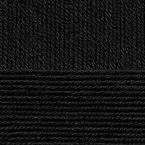 Детская новинка, цвет 02 черный ООО Пехорский текстиль 100% высокообъемный акрил, длина 200м в мотке