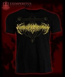 EXIMPERITUSERQETHHZEBIBSIPTUGAKKATHSULWELIARZAXULUM - Gold logo Майка Brutal Technical Death Metal