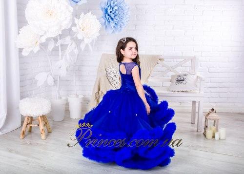 Платье Облачко синее