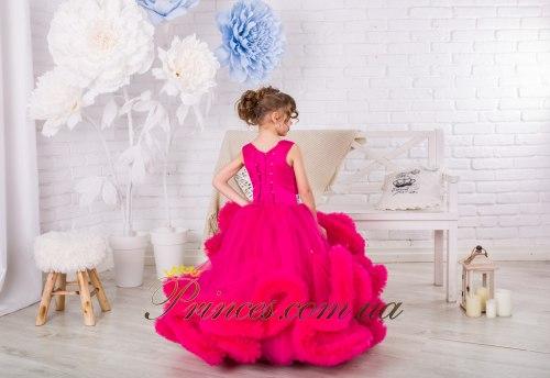 Платье Облачко малиновое