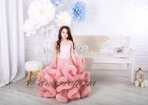 Платье Облачко пудровое