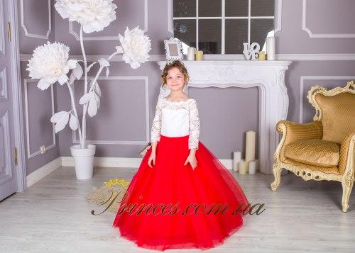 Платье Мелиса красная