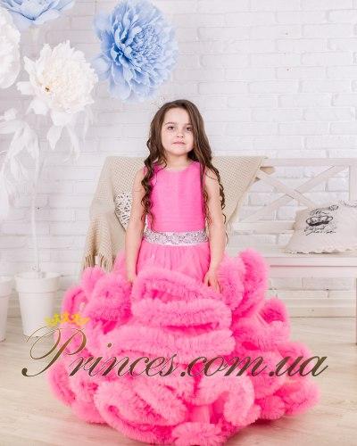 Платье Облачко ярко-розовое