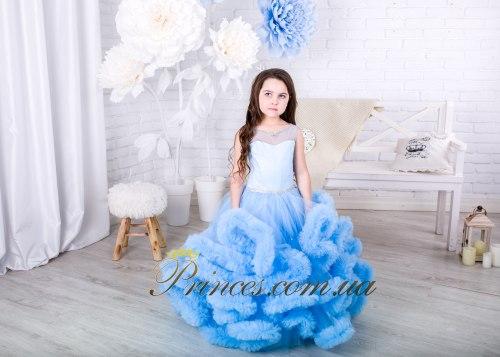 Платье Облачко голубое