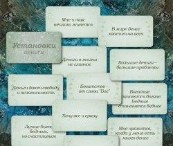 Карты « Установки: деньги» Ирина Федорова