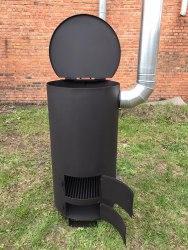 """Большая печь - бочка для сжигания мусора """"Смуглянка"""" супер"""