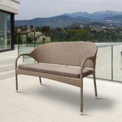 Плетеный диван S70B-W56 Light Brown