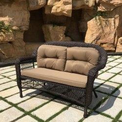 Плетеный диван из искусственного ротанга LV520-1 Brown/Beige