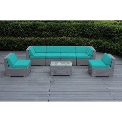 Плетеный модульный диван YR822BM Beige/Mint