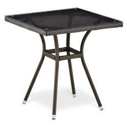 Плетеный стол T282BNT-W53-70x70 Brown