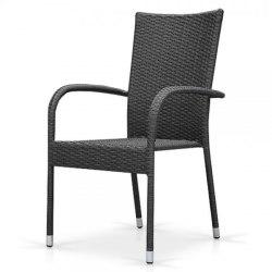 Плетеный стул из искусственного ротанга AFM-407G grey
