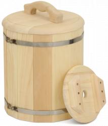 Кадка из кедра 10 литров (с гнетом)