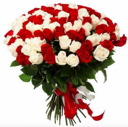 """Букет из 101 розы """"Mix"""" Белые розы"""