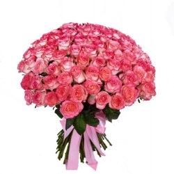 """Букет из 101 розы """"Джумилия"""" Розовые розы"""