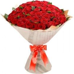 """Букет из 101 розы """"Красный заказ"""" Красные розы"""