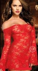 Сексуальное короткое платье из тонкого кружева в104-7к