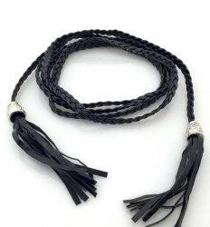 Шнурок плетенный с кисточками в610-12