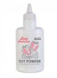 Ароматизированная пудра для игрушек Love Protection Клубника со сливками