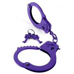 Фиолетовые металлические наручники Designer Cuffs