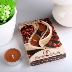 """Набор чайных свечей в гильзе """"Эспрессо"""" в подарочной коробке, 6 шт"""