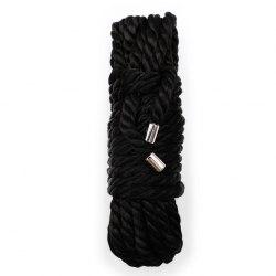 Веревка черная гладкая для бондажа (20 м.)
