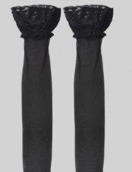 Чулки черные BEILEISI с высоким бортом на силиконе