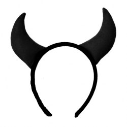 """Ободок с черными рожками """"Дьяволица"""" 610-16ч"""