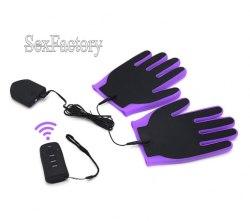 Электромассажные перчатки с пультом ДУ