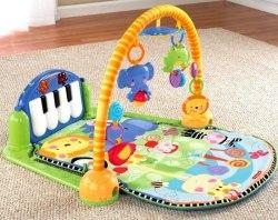 Развивающий музыкальный коврик Fisher Price - Пианино Kick and Play