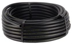 Капельный шланг без капельниц бухта 100 м, черного цвета
