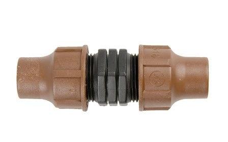 Муфта соединительная для капельного шланга (компр.) BF-12 lock