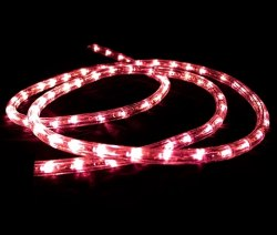 LED дюралайт Красный 2W Flash 36 LED/M, 2.16W/M, 220V IP65