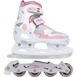 Коньки фигурные Vimpex Sport со сменным лезвием для девочек PW-223-B16 (розовые)