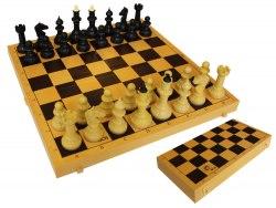 Шахматы обиходные с шахматной доской пластик