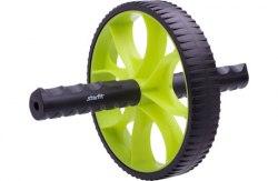 Ролик колесо гимнастический (зеленый/черный) STARFIT RL-103