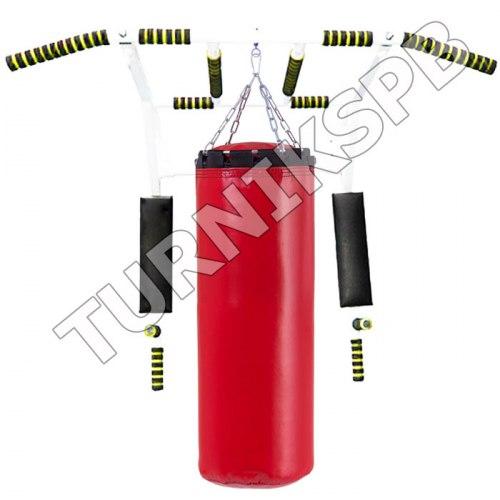 Турник брусья пресс усиленный с боксерской грушей 45 кг