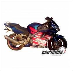 "Комплект мото наклеек ""Honda CBR F4i sport Castrol Edition"" модель 2001 - 2005"