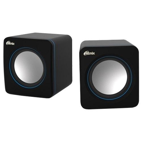 Акустическая система Ritmix SP-2010 (2.0), Черный-синий ,SPK active RMS 2.5Wx2, USB power, Black-blue