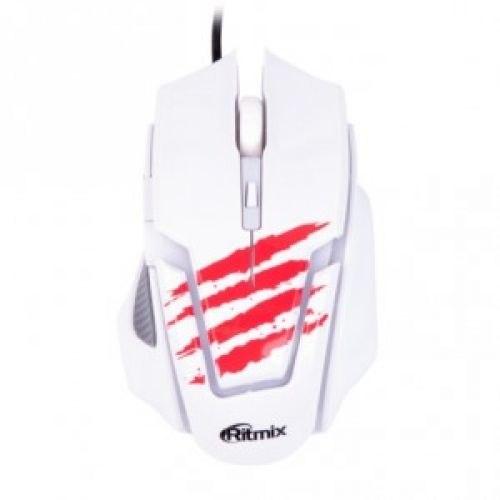 Мышь Ritmix ROM-350, Белый ,Mouse optical
