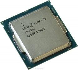 Процессор Intel Сore i3-6100, oem ,СPU 3.7 GHz (Skylake), 2C/4T, 3 MB L3, HD530/350, 51W, S 1151