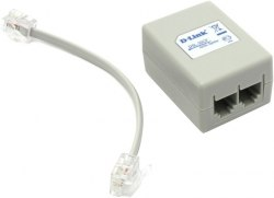 ADSL Сплиттер D-Link, DSL-30 CF, (В комплекте шнур для телефона 50 cм),