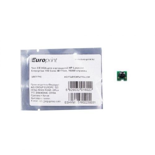 Чип, Europrint, CE342A, Для картриджей HP LaserJet Enterprise 700 Color M775dn, 16000 страниц.