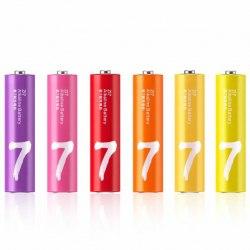 Батарейки, Xiaomi, ZMI ZI7 Rainbow AA724, 7AAA, 1.5V, Экологически безопасные
