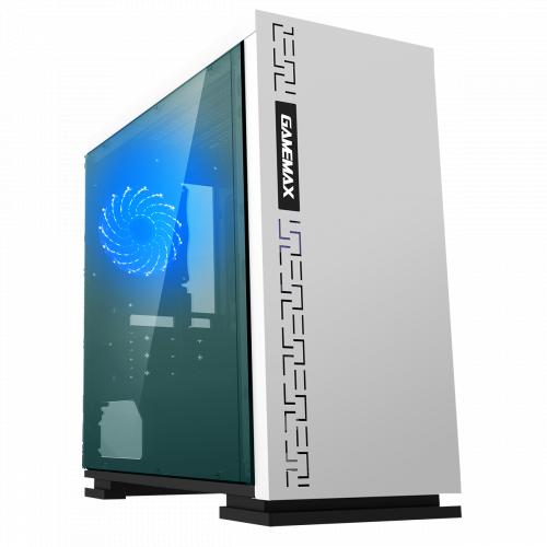 Корпус MATX midi tower GameMax, H605-WT, (без БП), white Case