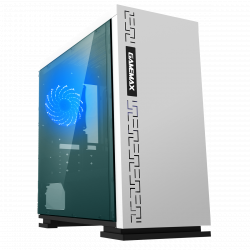 Корпус MATX midi tower GameMax, H605-WT, (без БП), white Case